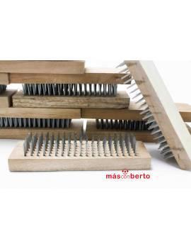 Cepillo de púas de madera