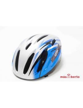 Casco de Bici color azul,...