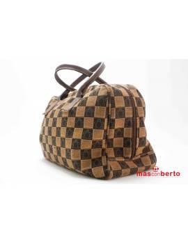 Bolso de viaje marrón tortugas