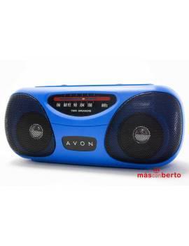 Radio FM portátil azul...