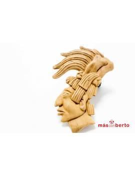 Máscara tribal con tocado