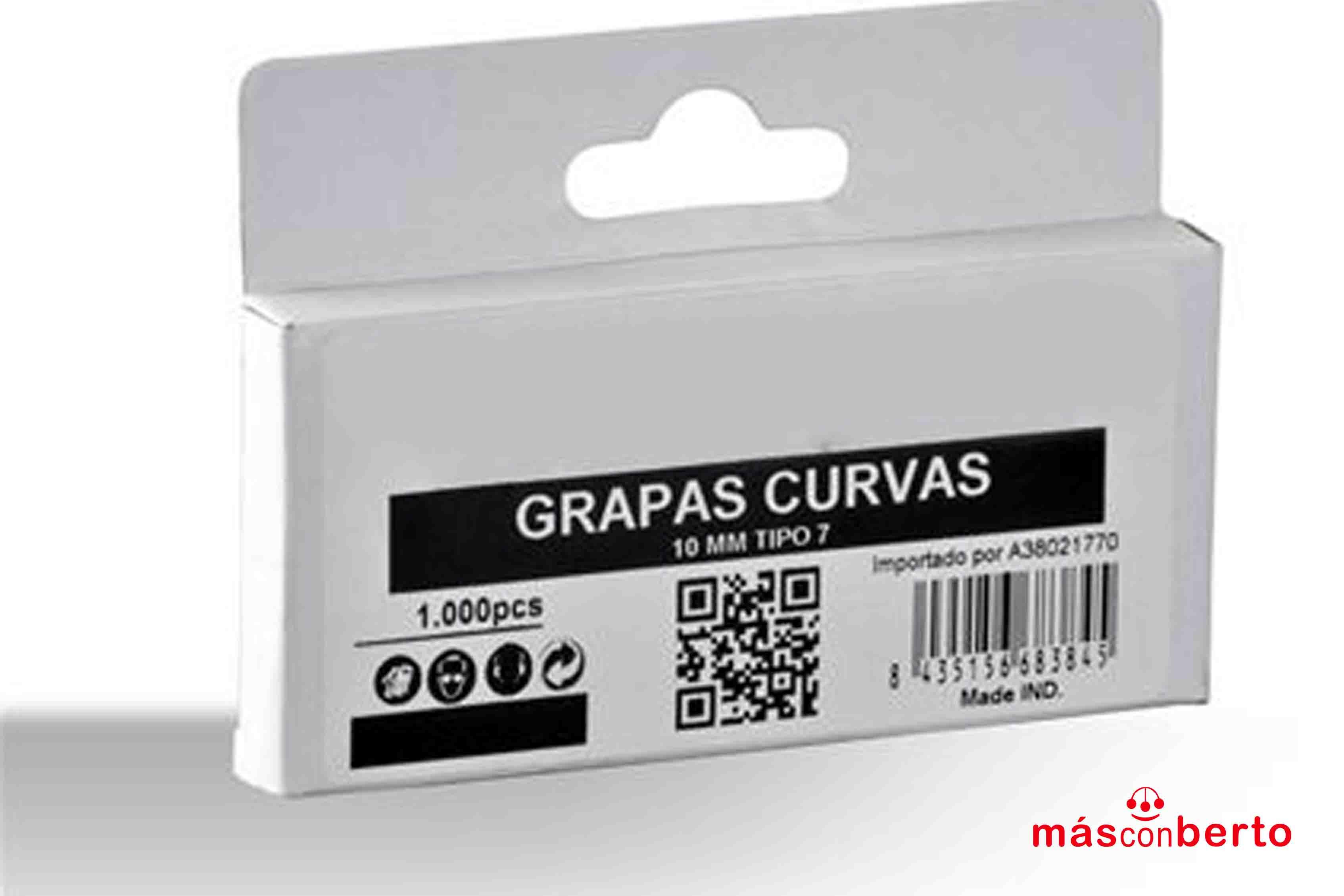 Caja Grapas Curvas 10mm...