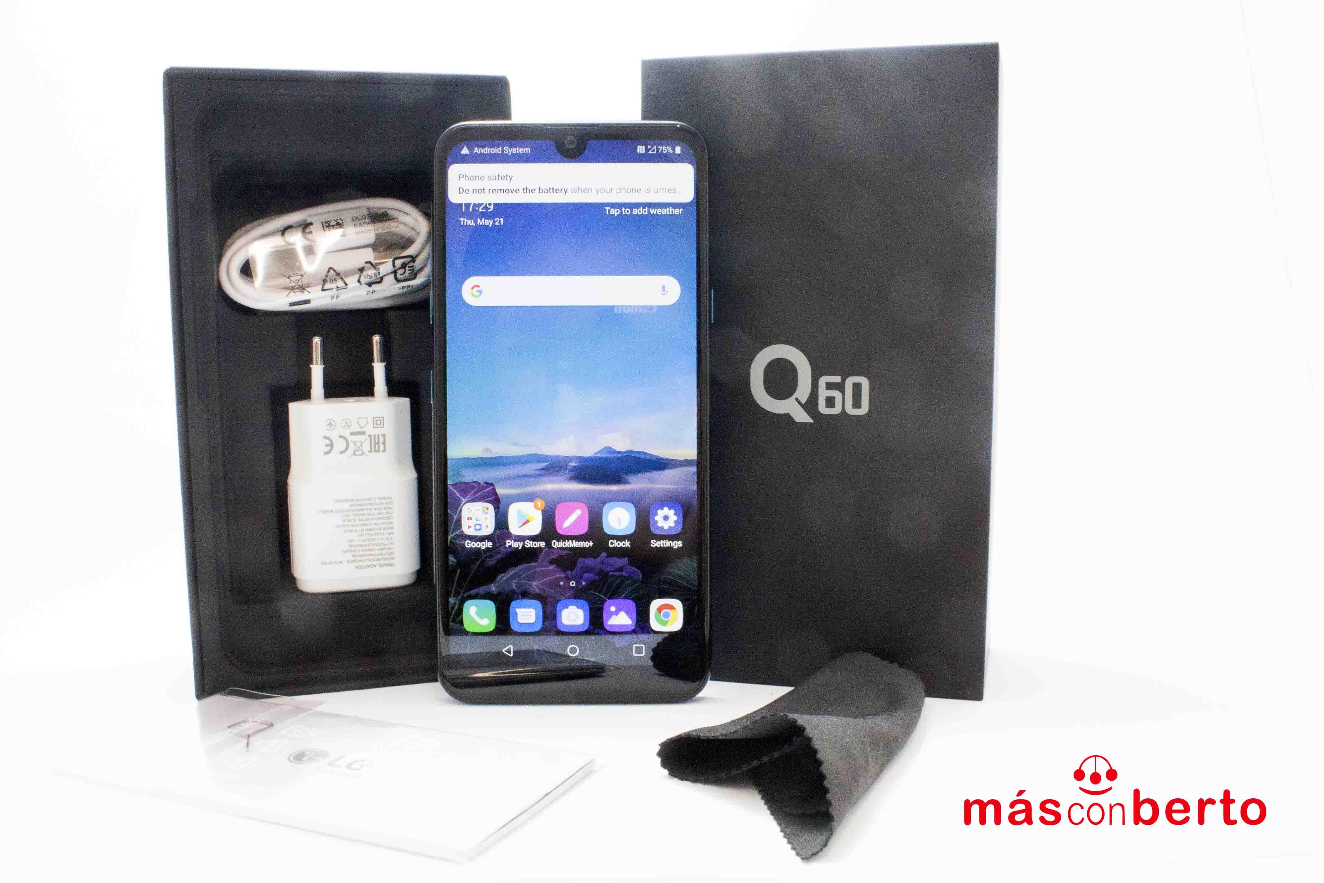 Móvil LG Q60 Azul