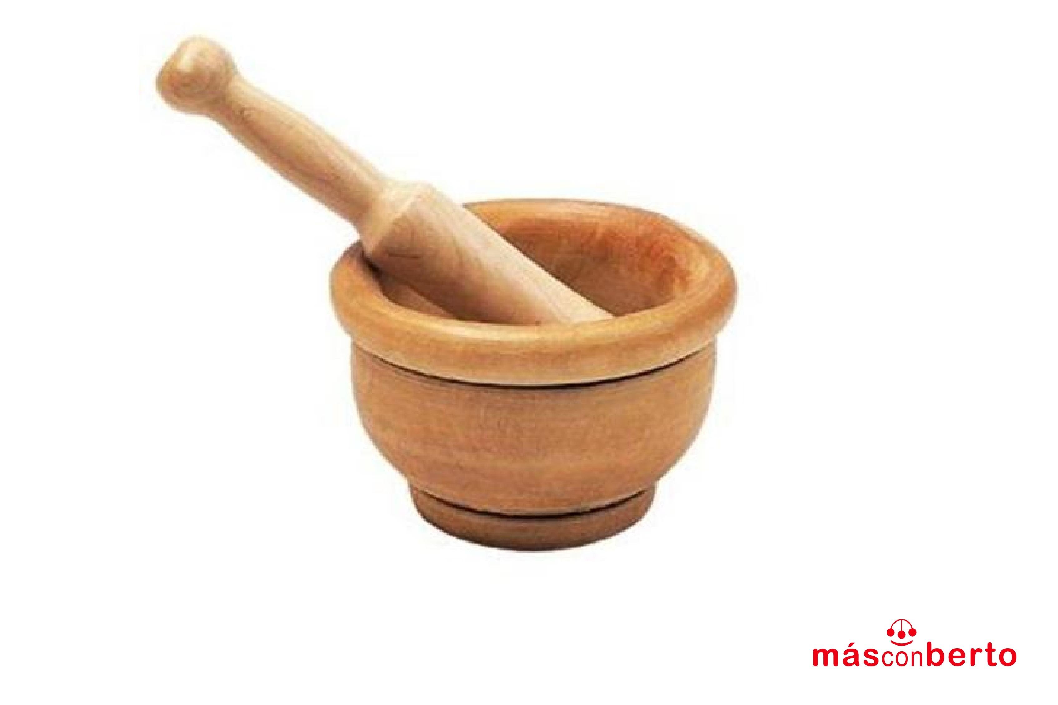 Mortero madera con mango...