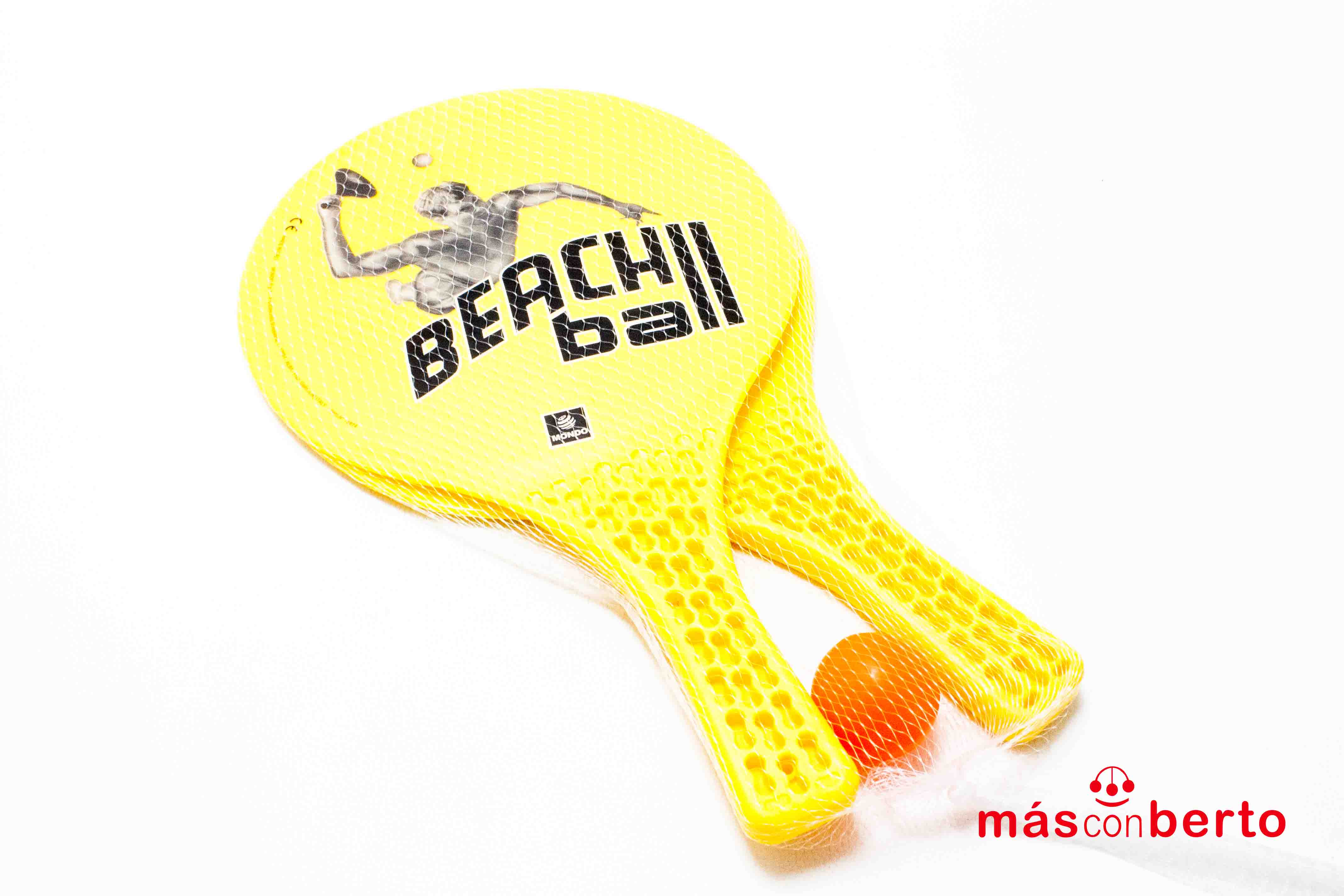 Palas de playa con pelota...