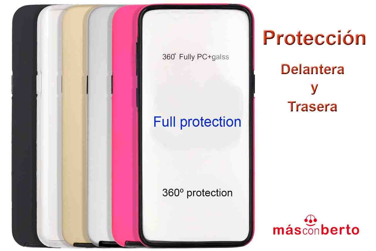 Funda 360 Samsung S8 Dorado