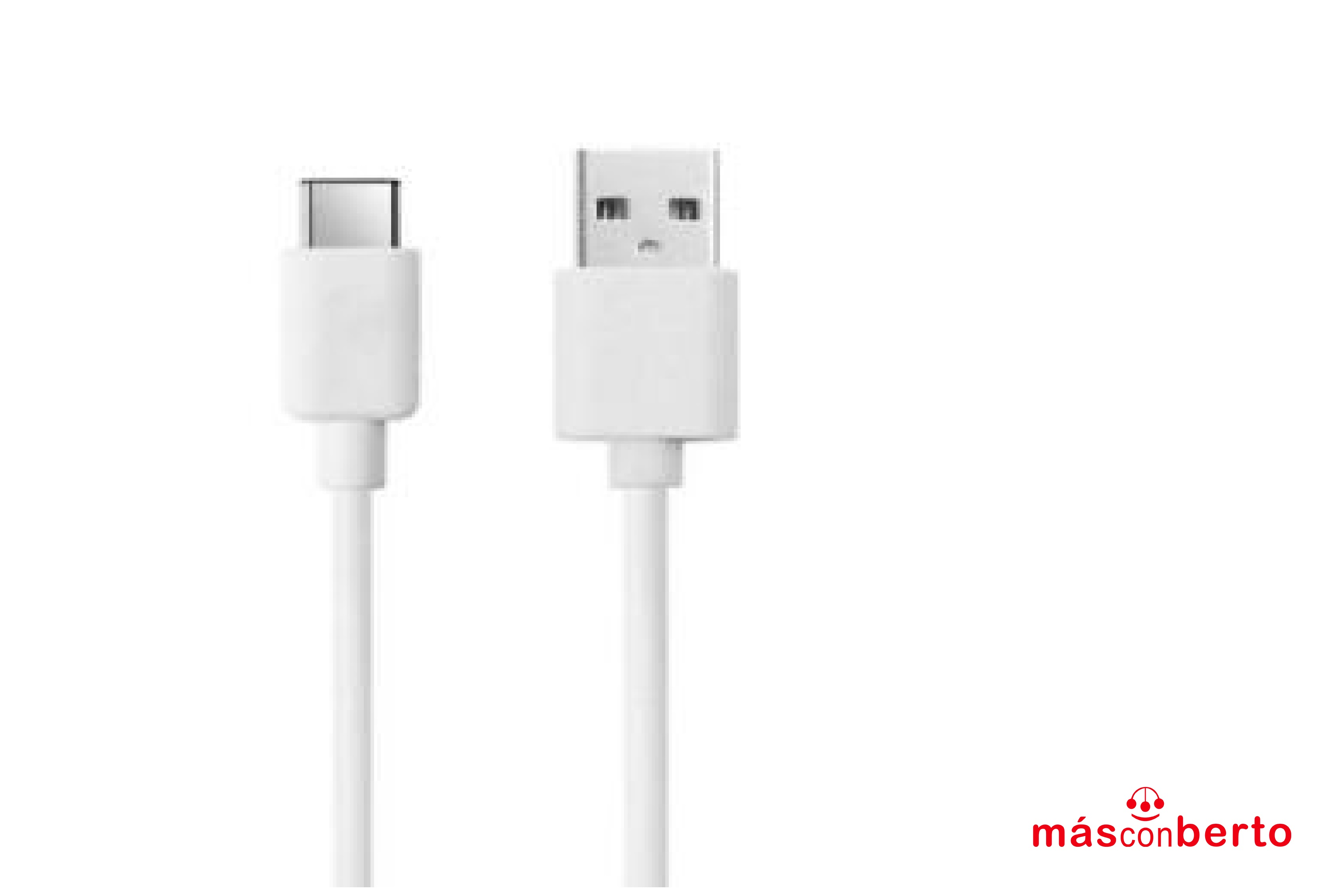 Cable USB Tipo C 2M Blanco...