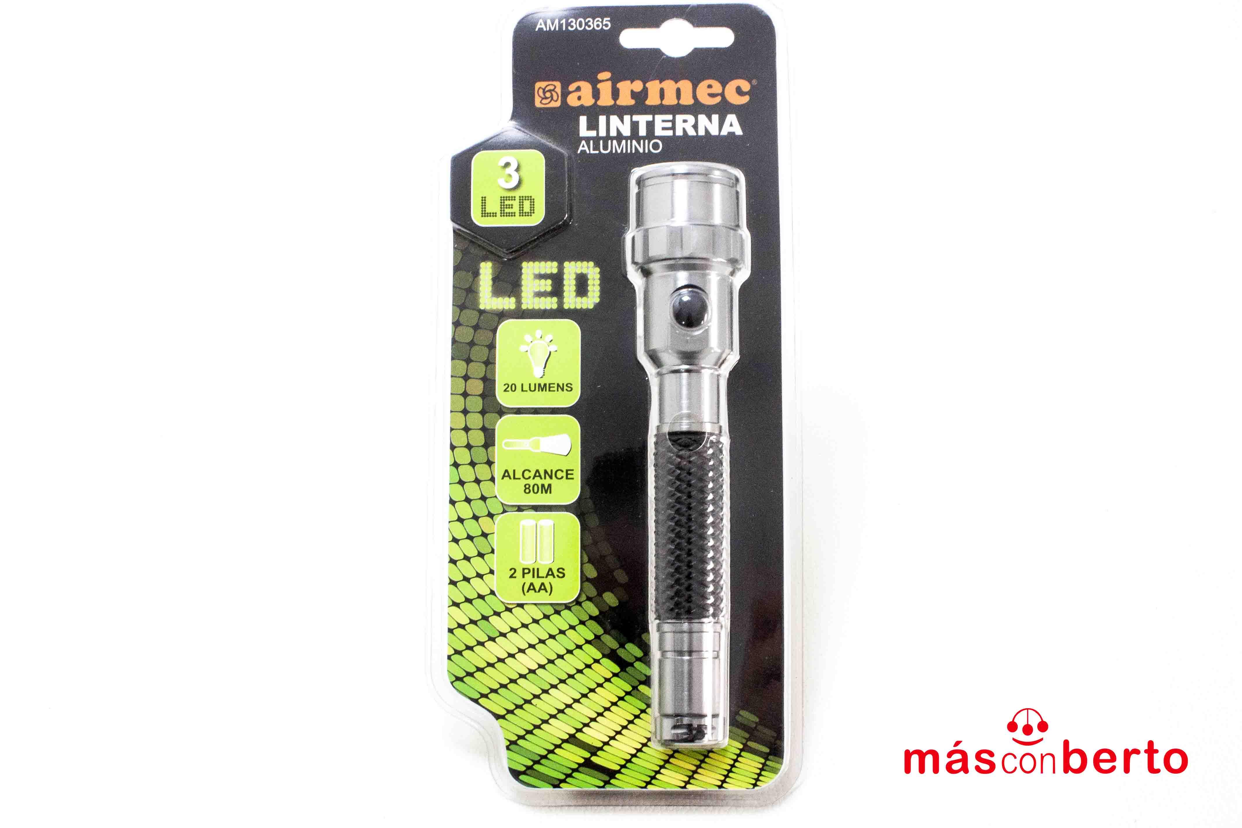 Linterna Aluminio 3 LED...