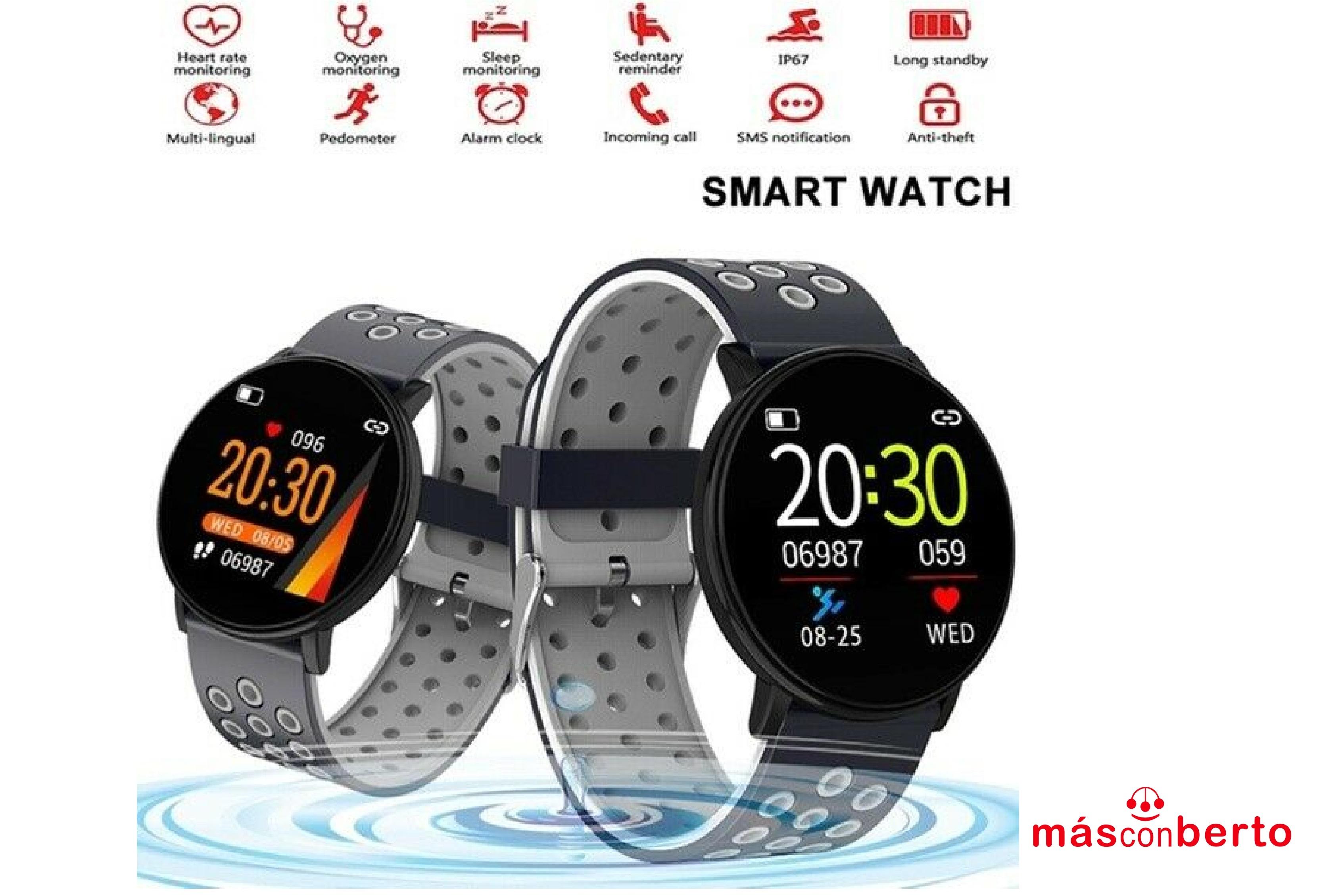 Smartwatch M2 tec W8