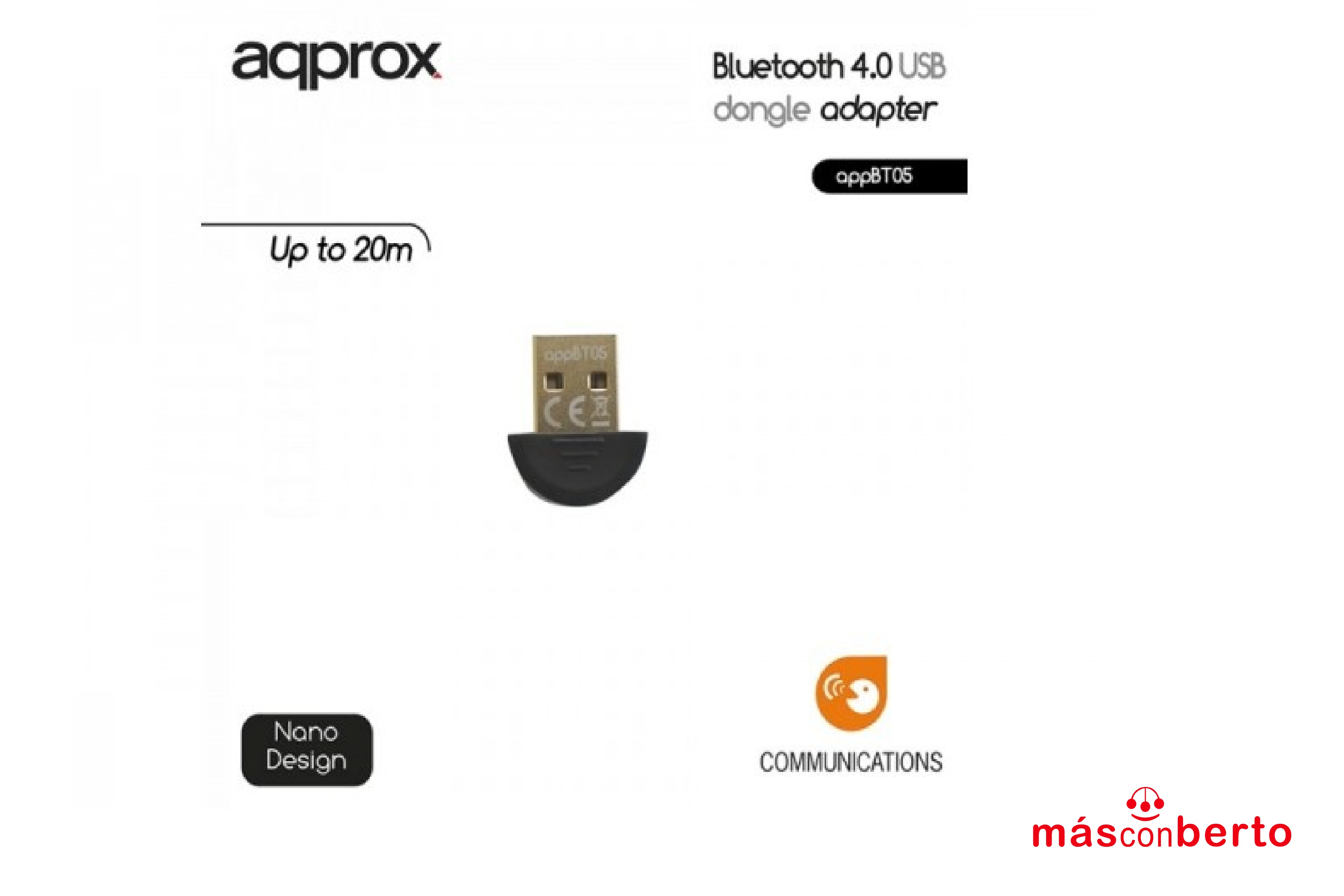 Adaptador Bluetooth 4.0 USB...
