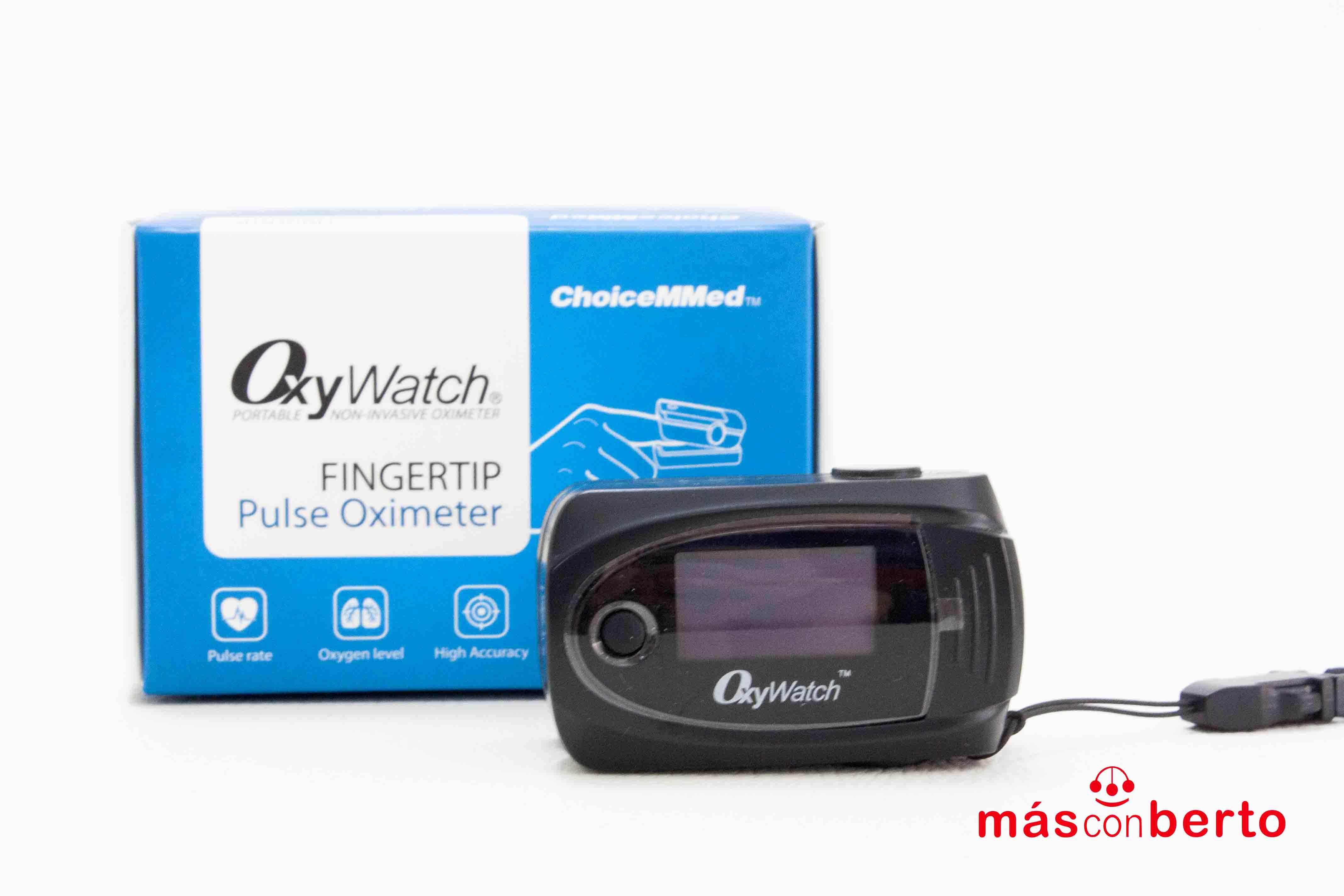 Pulsioximetro de dedo OxyWatch