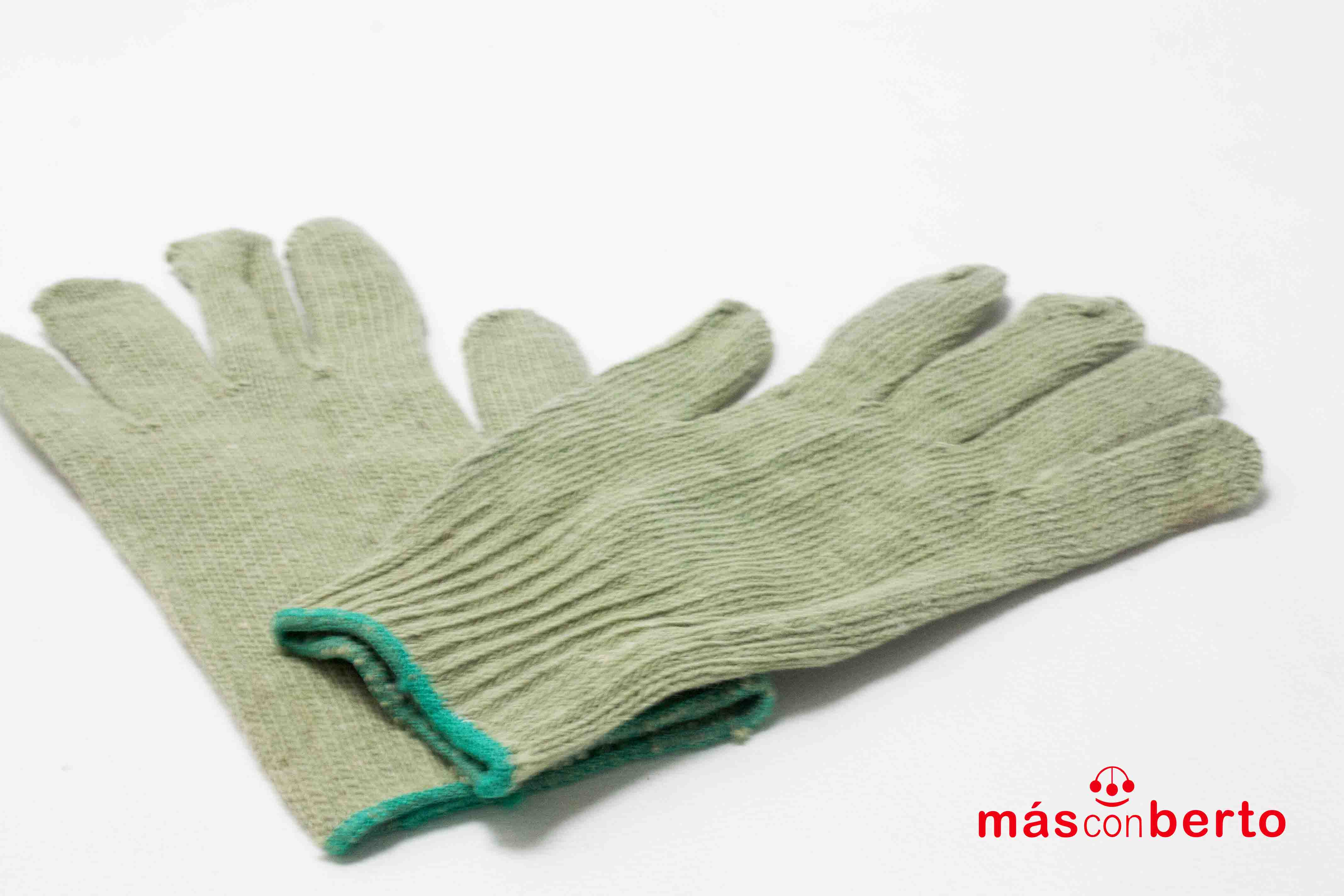 Guantes lana verdes