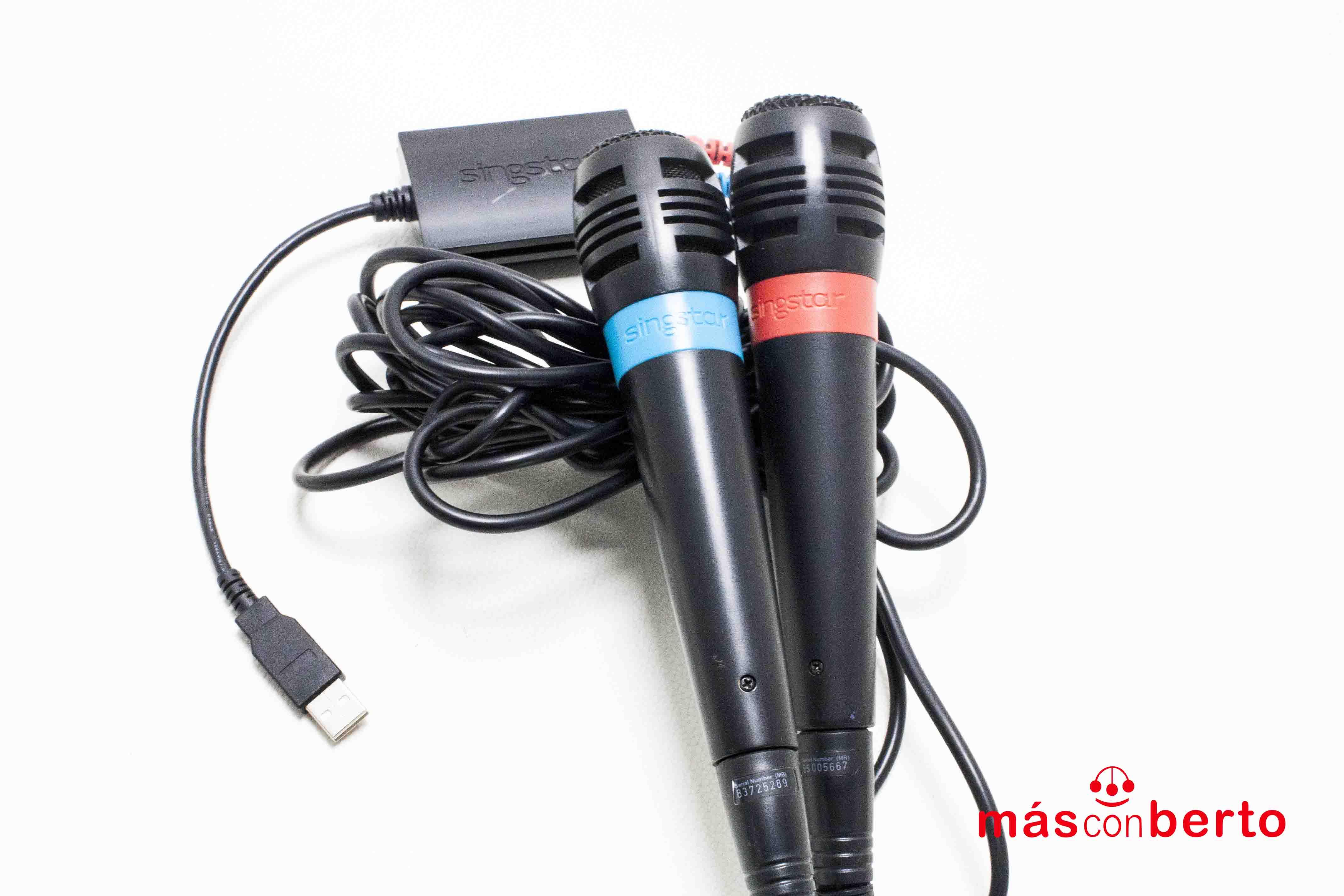 Micrófonos PS3 Singstar USB