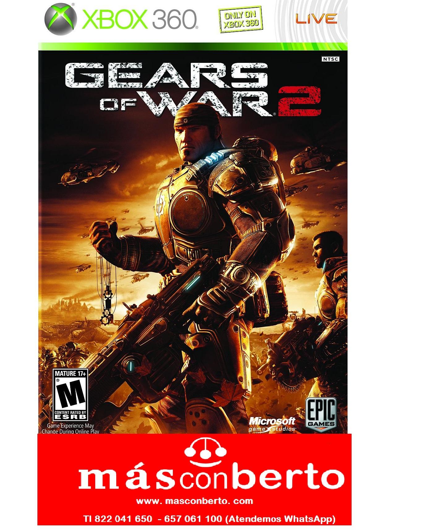 Juego xbox gears of war 2