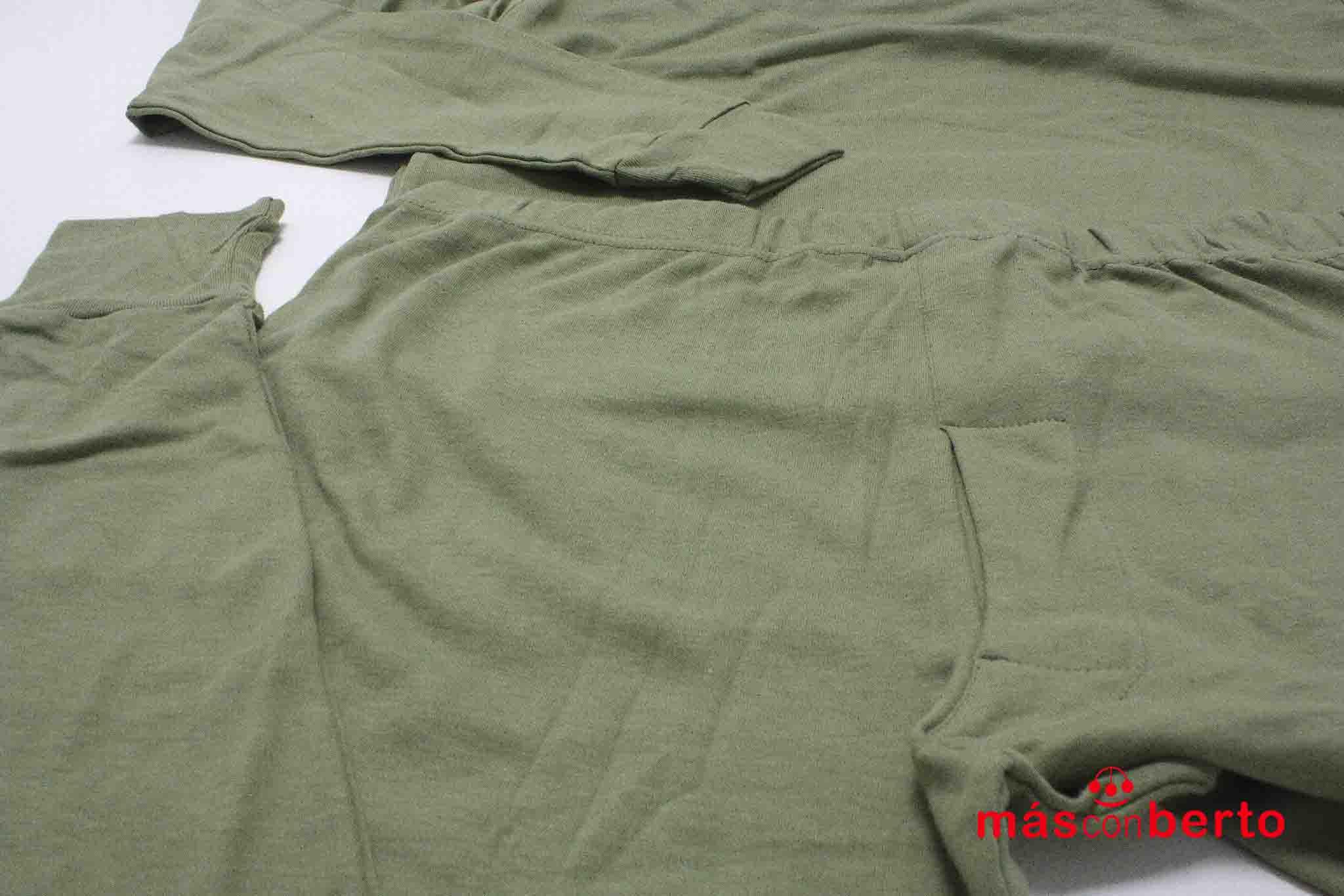 Pijama militar verde talla M