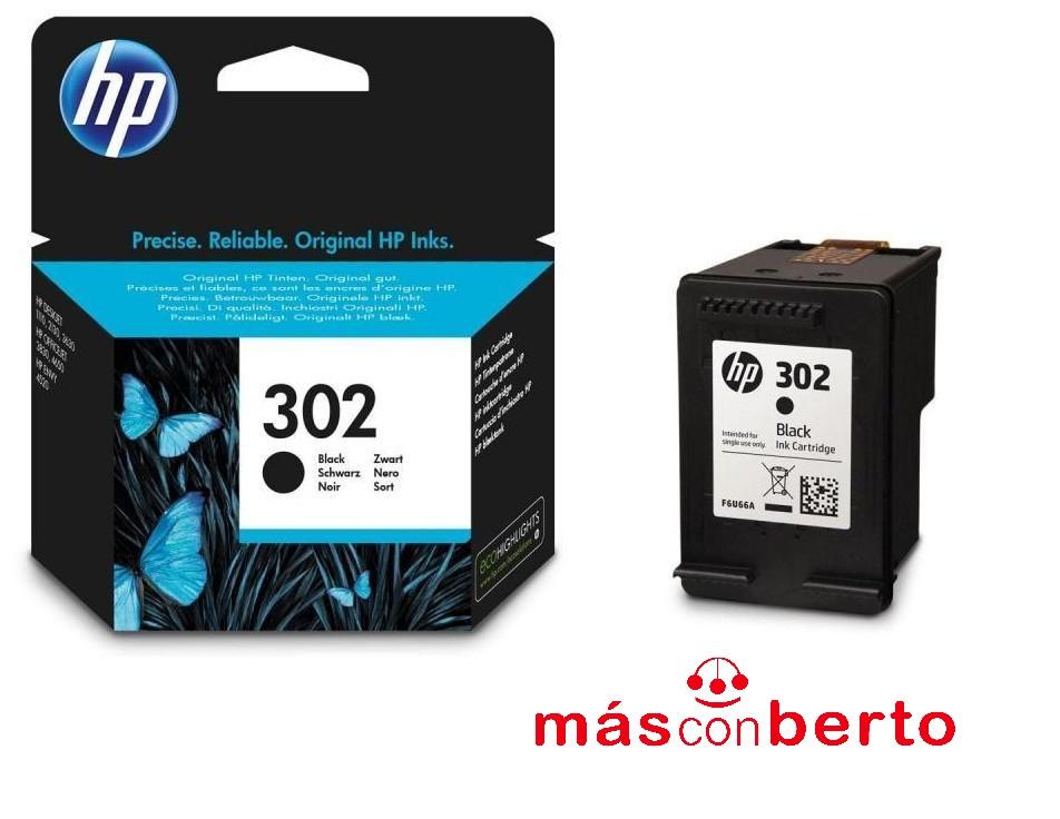 Cartucho tinta HP 302 Negro