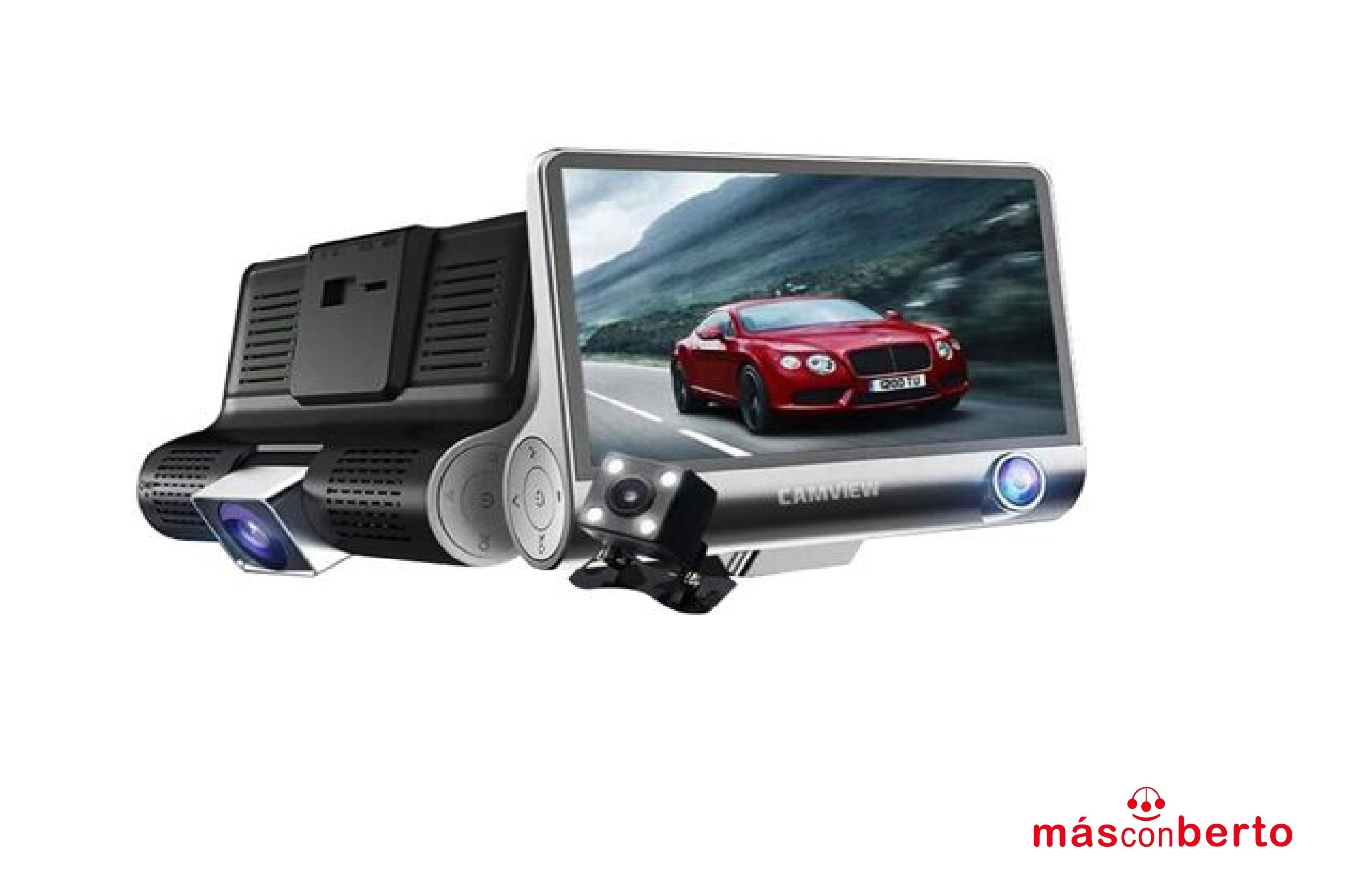 Multi cámara vehículo LCD...