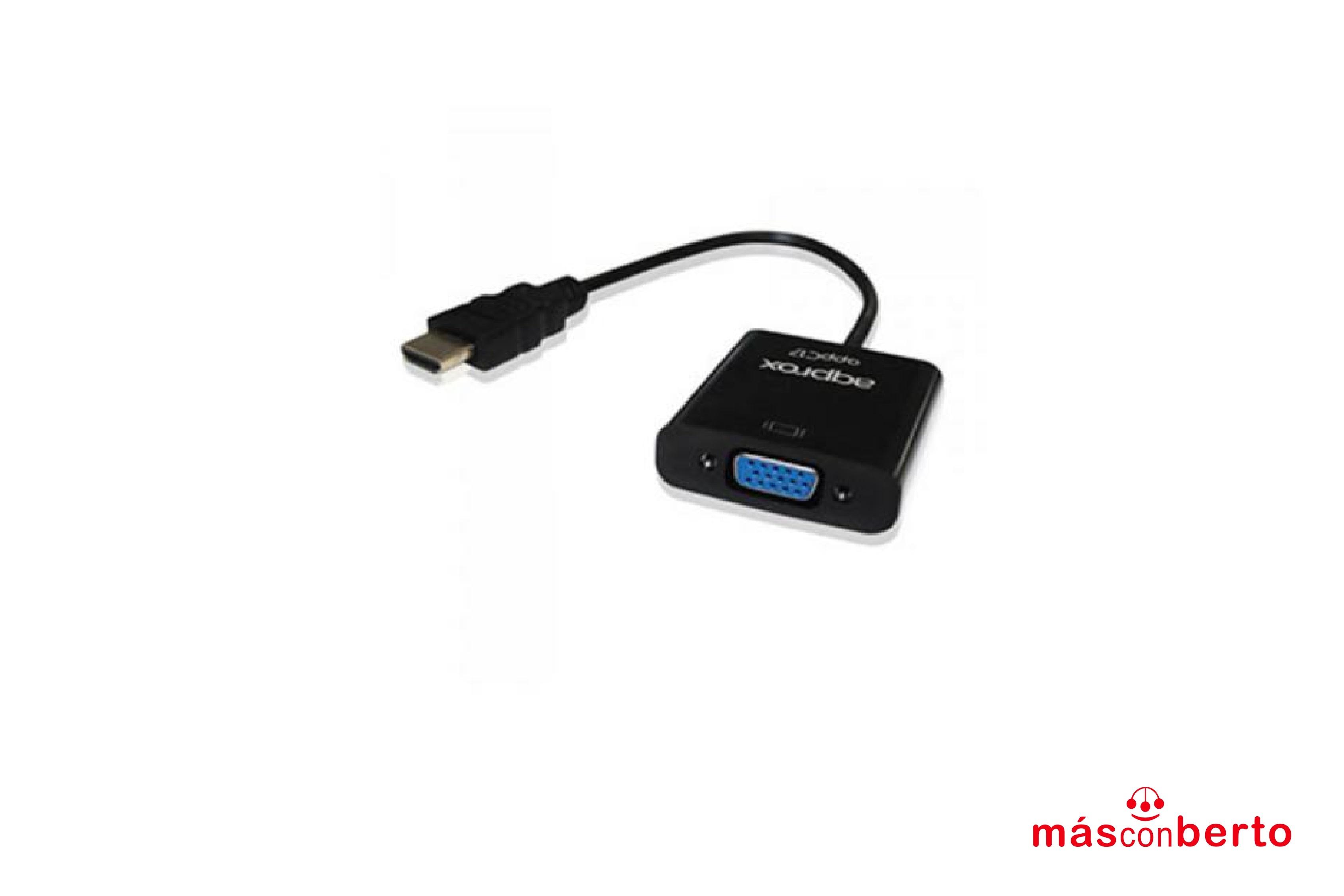 Adaptador HDMI a VGA negro...