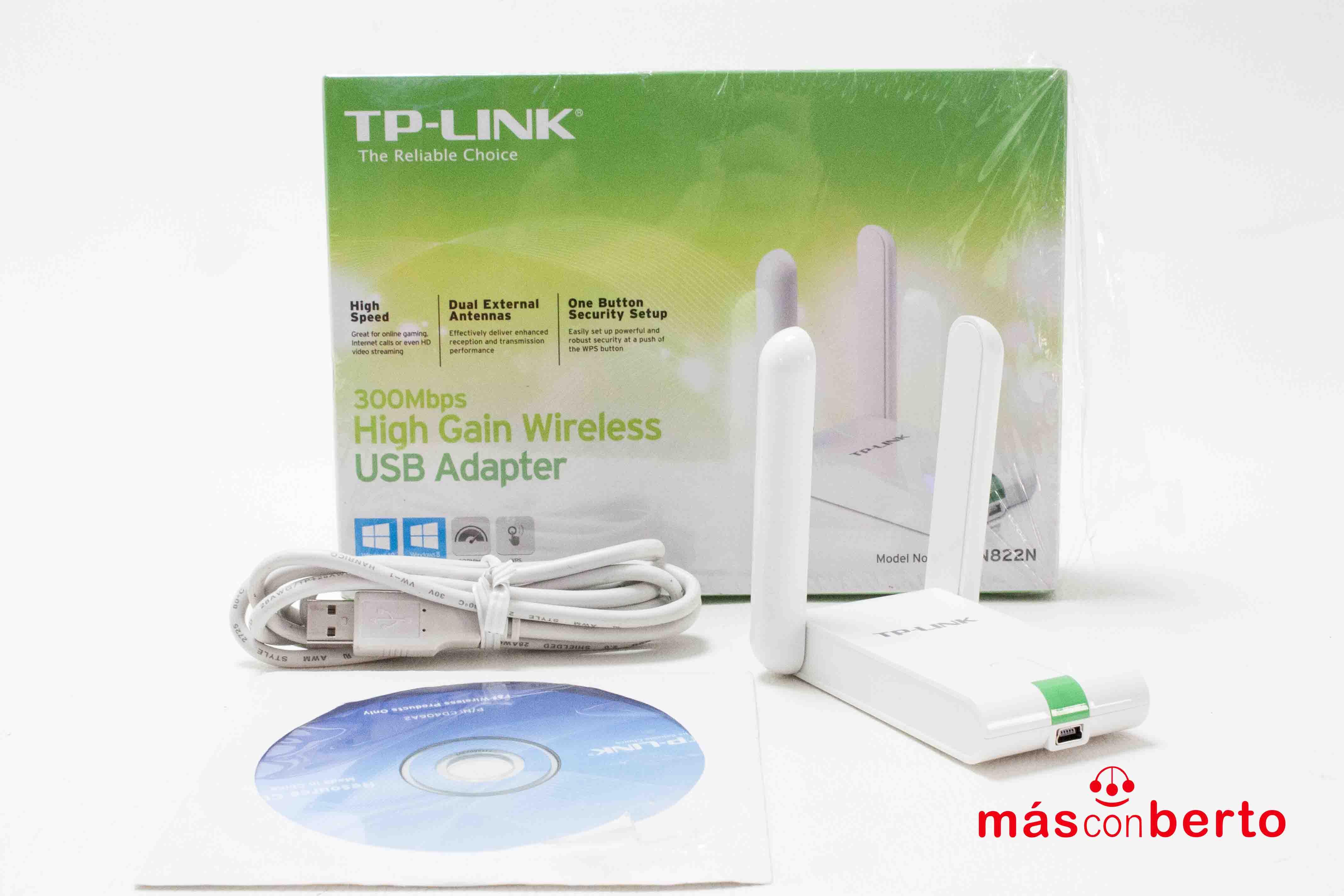Adaptador USB WiFi TP Link...
