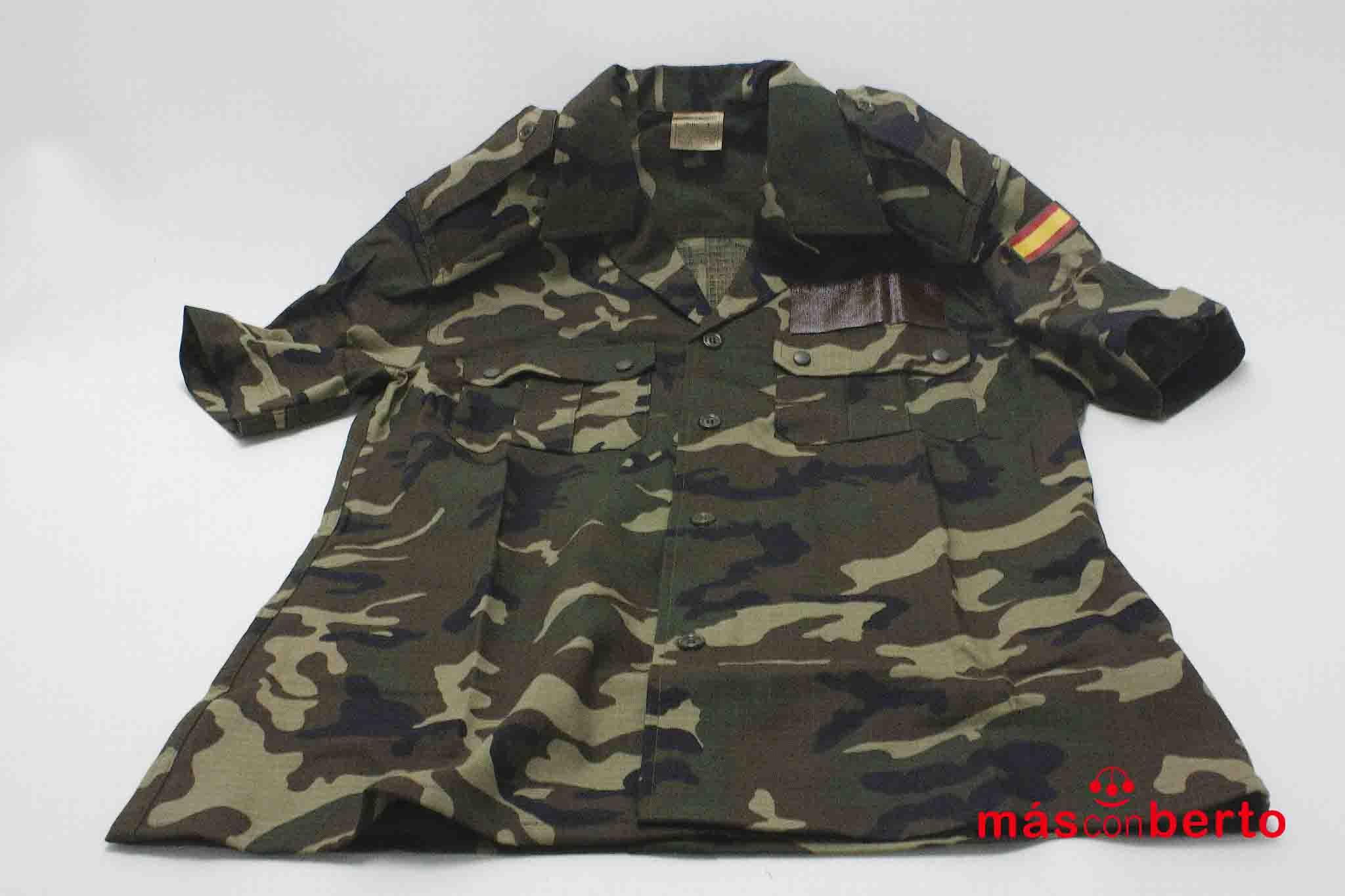 Camisa M/C militar boscosa T2
