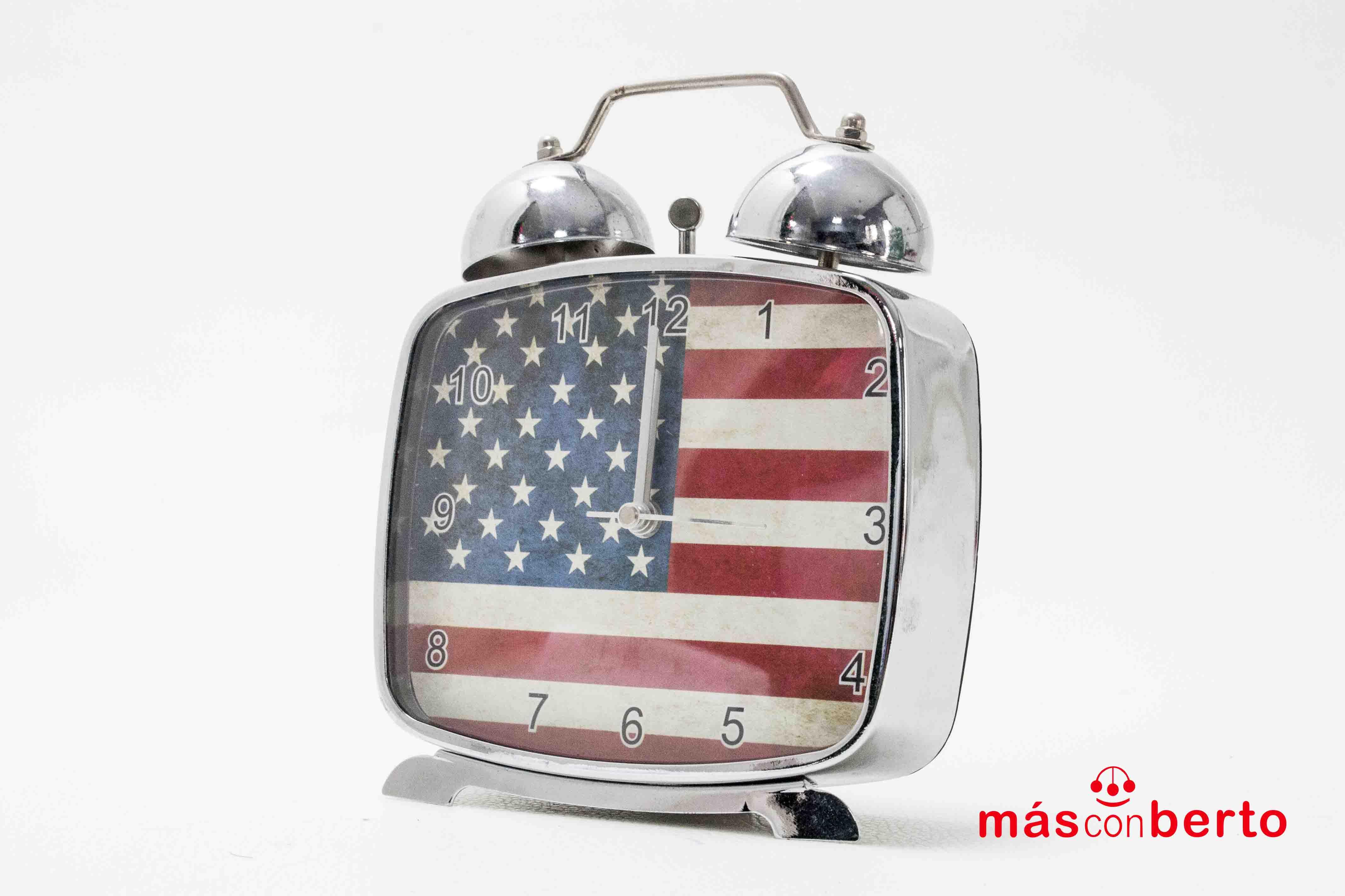 Reloj despertador bandera EEUU