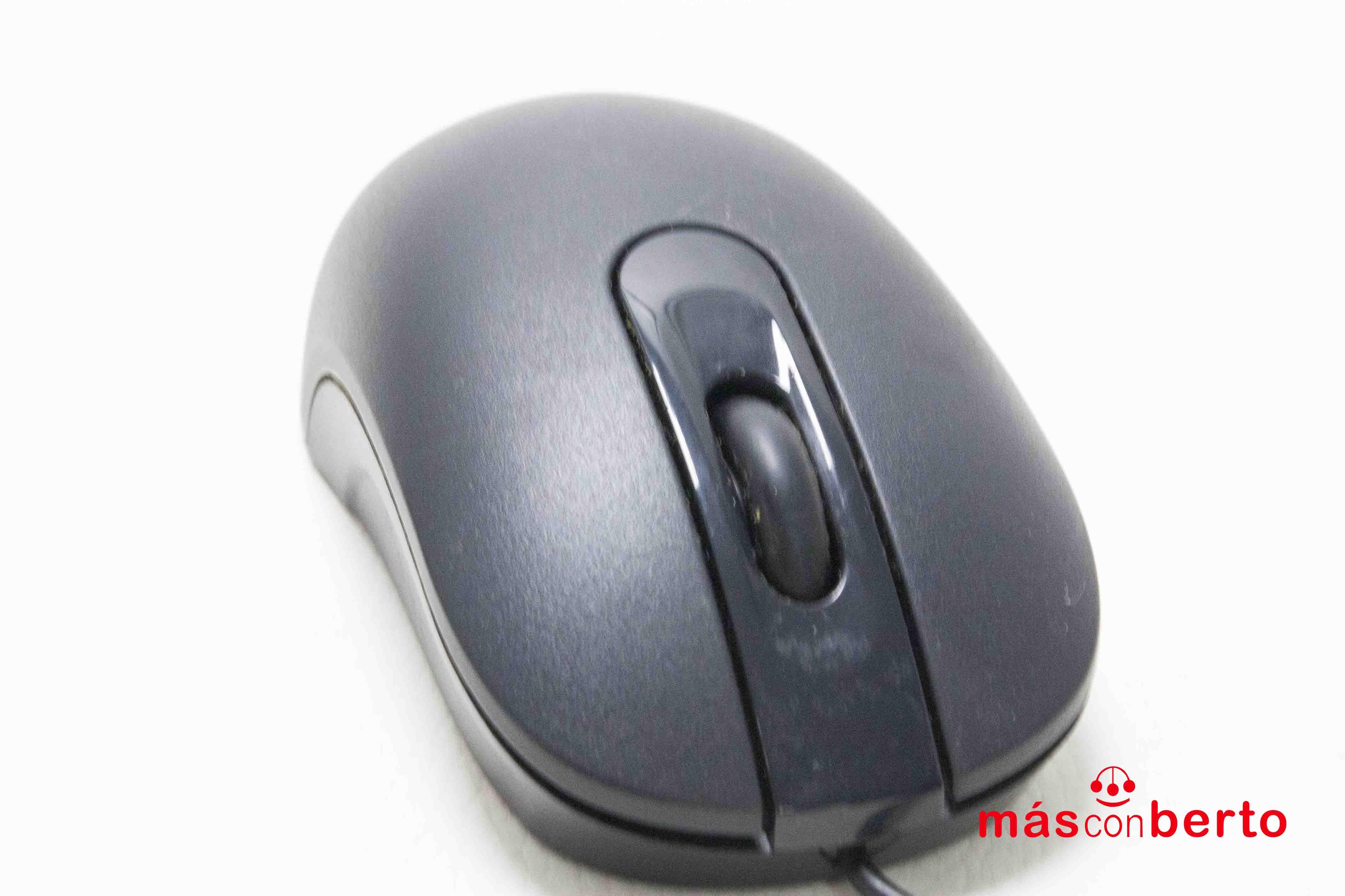 Ratón USB en color negro