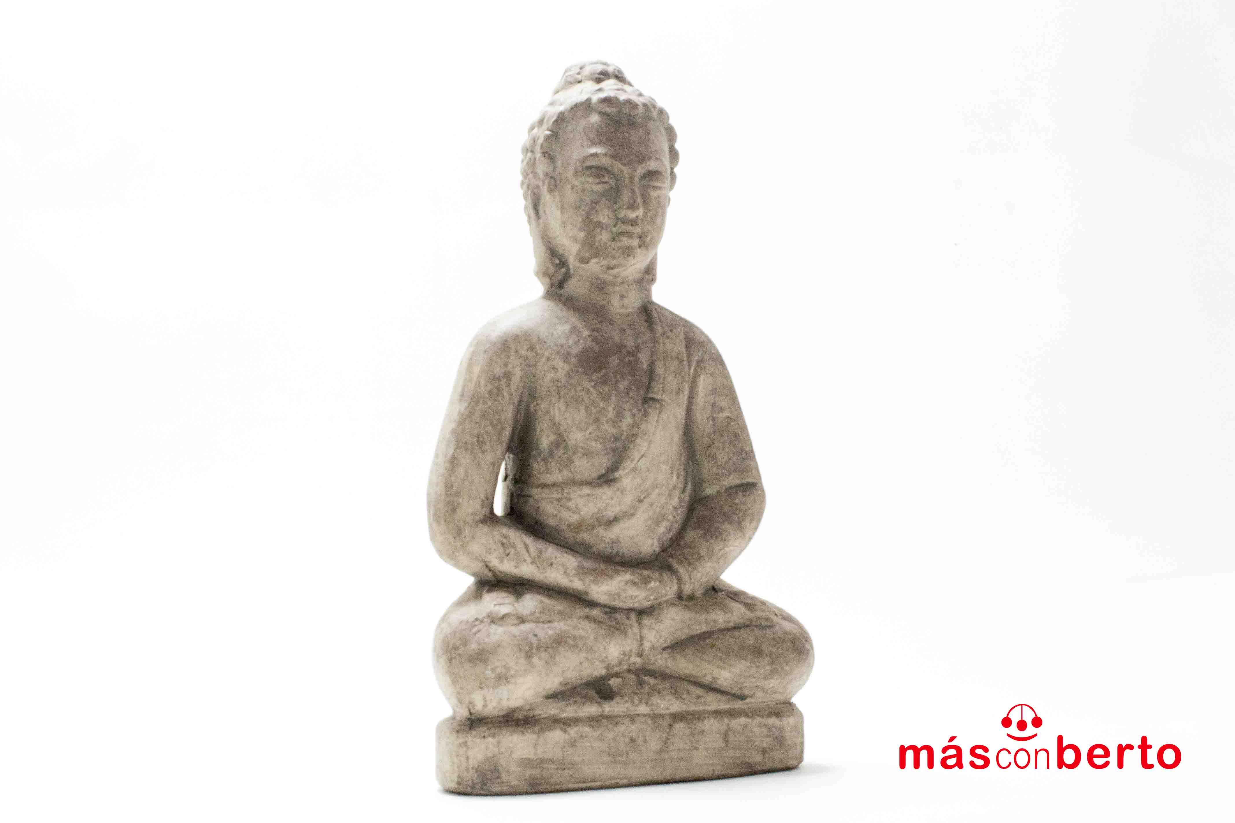 Buda sentado Gris