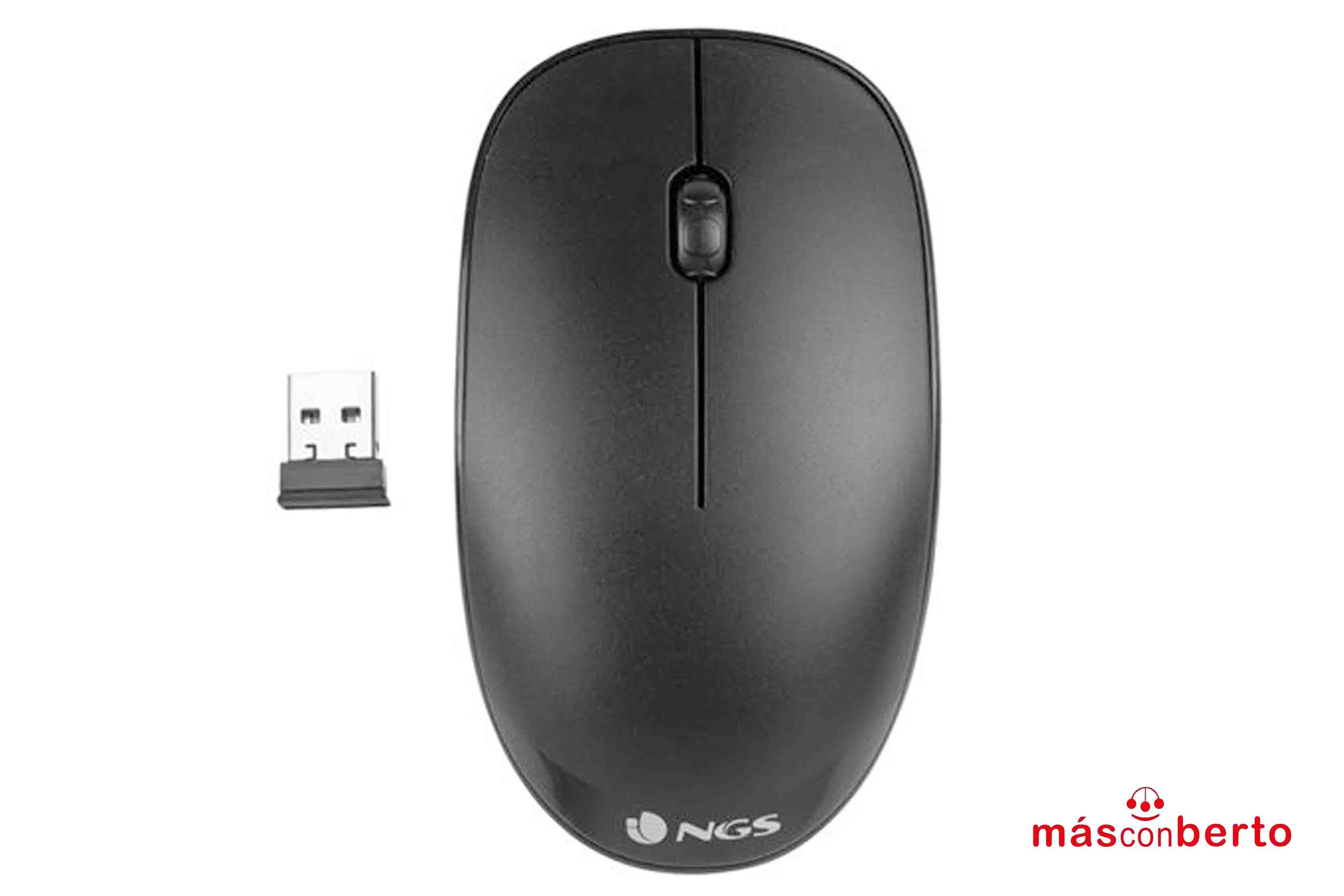 Ratón inalámbrico USB Negro...