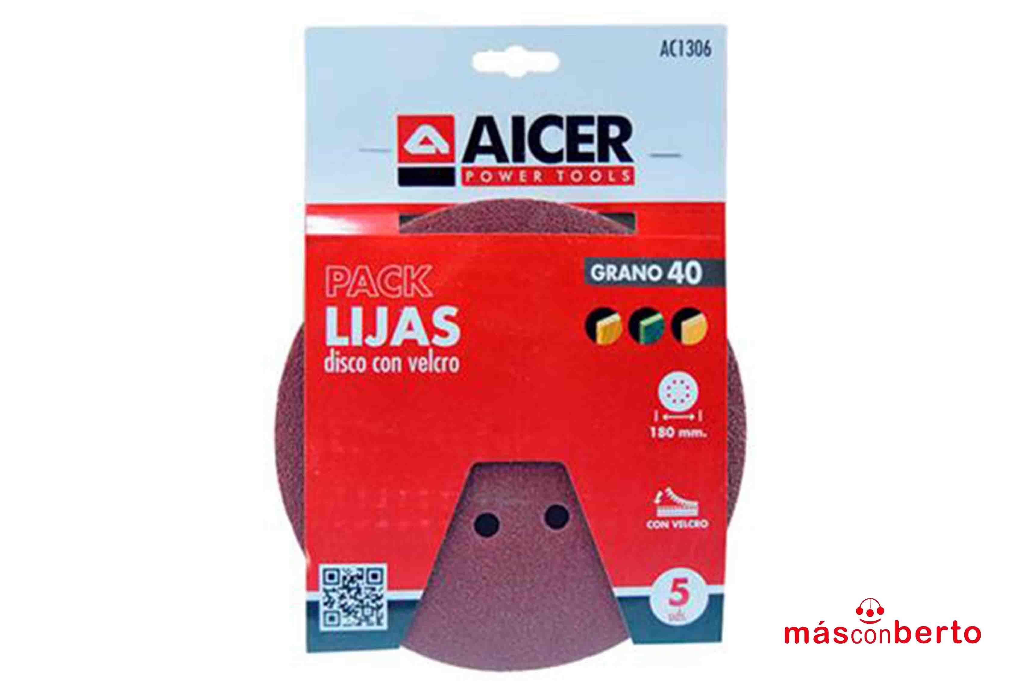 Pack 5 Lijas disco 180MM...