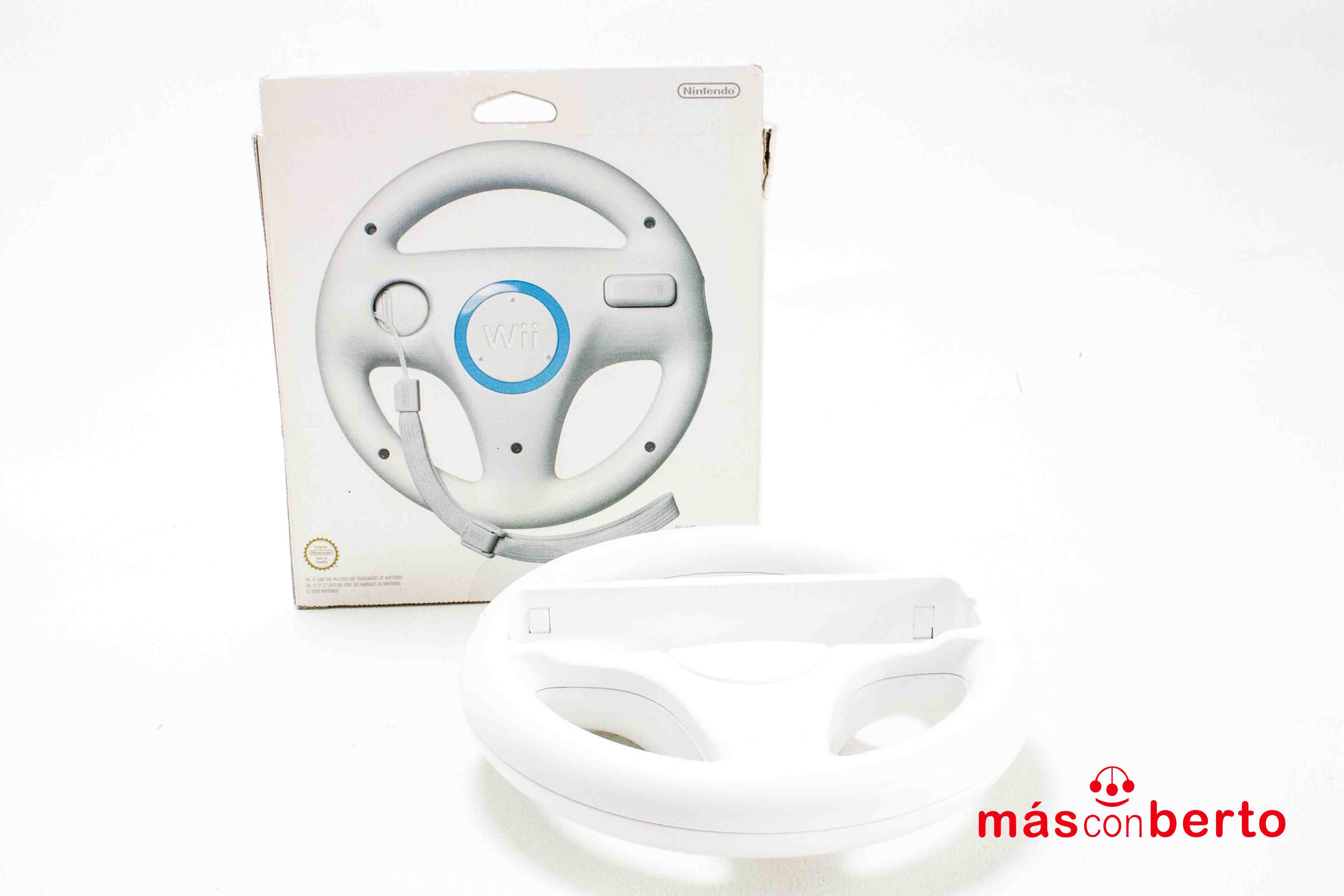 Volante Wii Wheel blanco