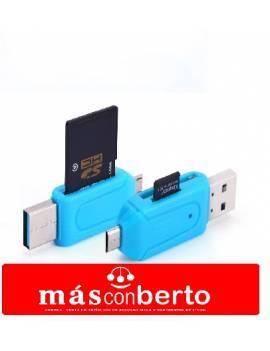 Lector de tarjetas 2 en 1 USB