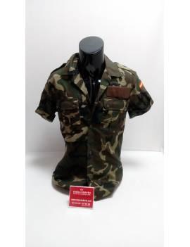 Camisa M/C militar boscosa