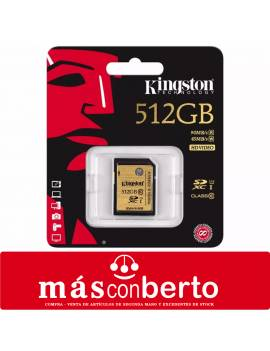 Tarjeta SD 512GB Kingston