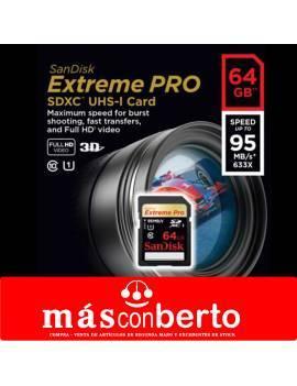 Tarjeta SD 64GB Sandisk...