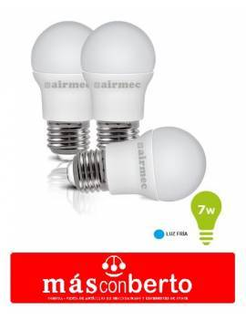 3 bombillas Led 7w Luz Fria...