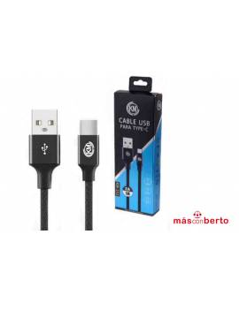 Cable USB TipoC Negro 1M...