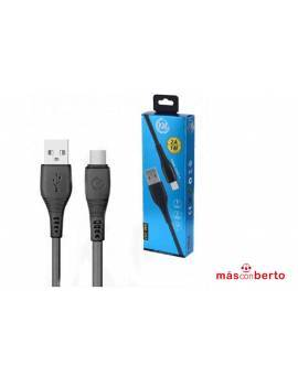 Cable USB Tipo C 1M Negro...