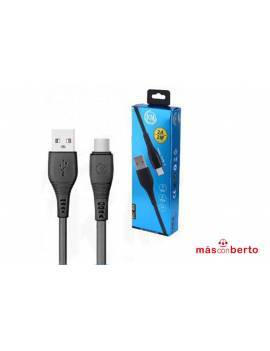 Cable USB Tipo C 2M Negro...