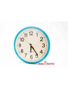 Reloj de pares azul redondo