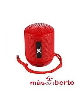 Altavoz Bluetooth T&G Rojo...