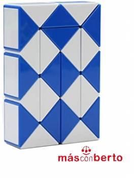 Rubik Serpiente Azul y blanco