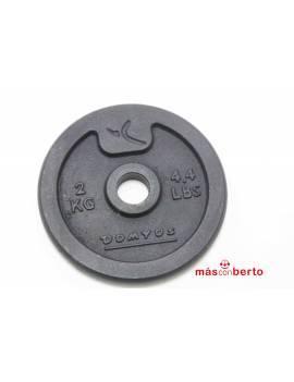 Disco de pesa 2Kg Domyos